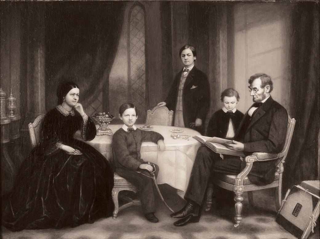 lincoln-family-by-francis-bicknell-carpenter-1865