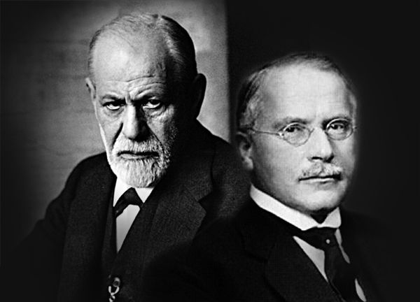 Both Sigmund Freud (right) and Carl Jung (left) were early members of the Society for Psychical Research.